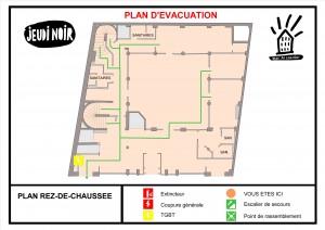 Plan d'évacuation du 24, rue Saint-Marc